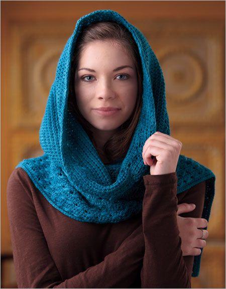 Hooded Scarf - Interweave #Crochet - $5.50