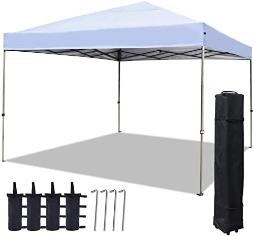 New Cooshade 12x12ft Straight Leg Pop Up Canopy Tent Instant Sun Protection Shelter Portable Cool Cabana White Online Shopping Pptoplike In 2020 Canopy Tent Pop Up Canopy Tent White Patio Furniture