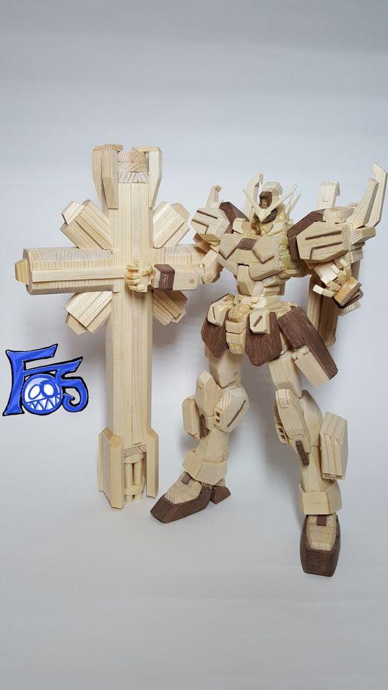 Gundam Prometheus [Wood Ver.] - Wood Build     Created by -눈의 꽃-