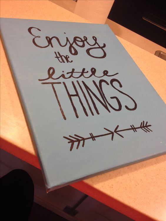 The Little Things Canvas Art Crafting Little Quotes