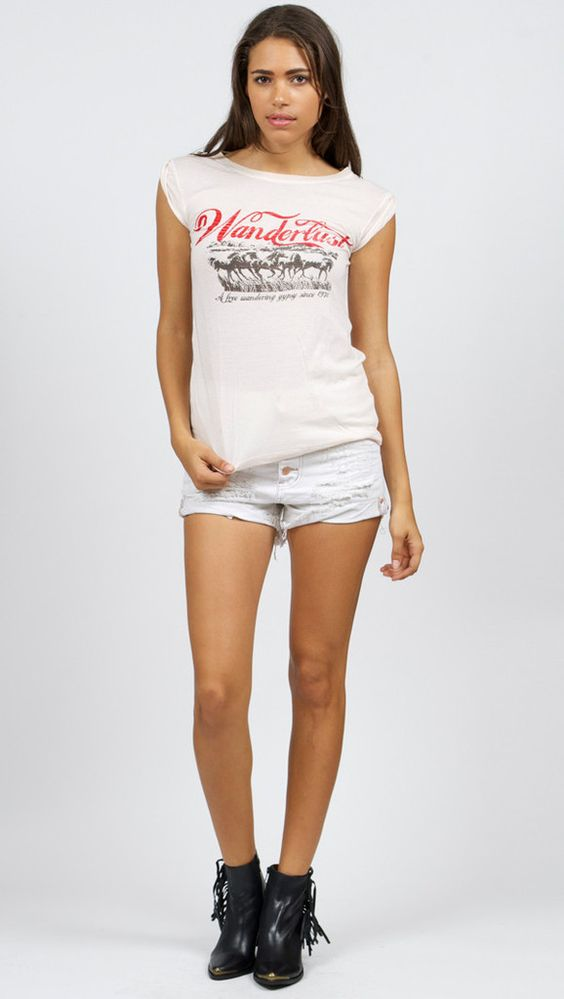 Spell and the Gypsy Collective Wanderlust Road Trippin' Tee - Off White