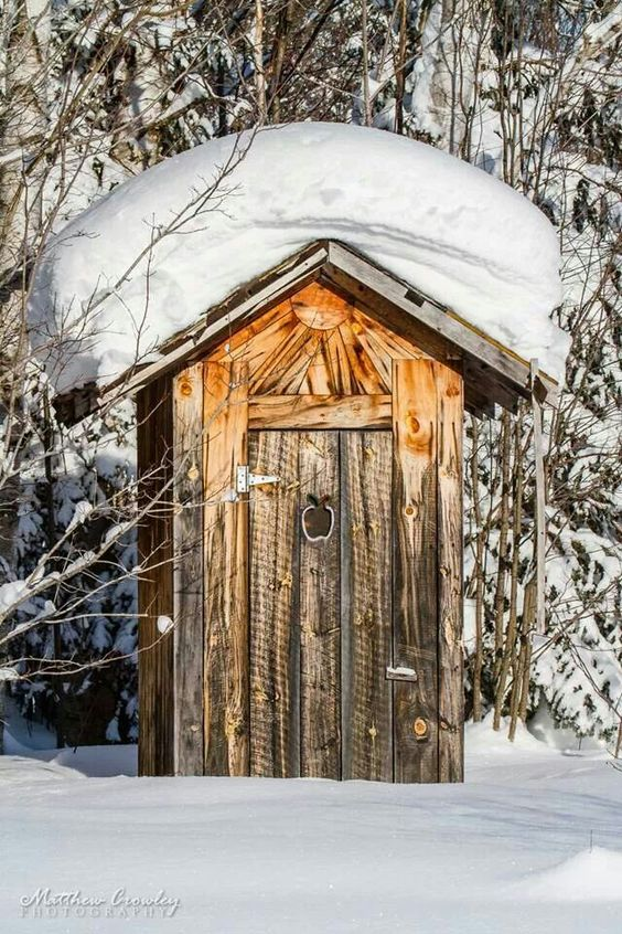 Roughing it in the winter. . By Jeff  Crowley
