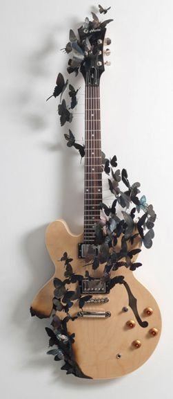guitar art by Paul Villinski