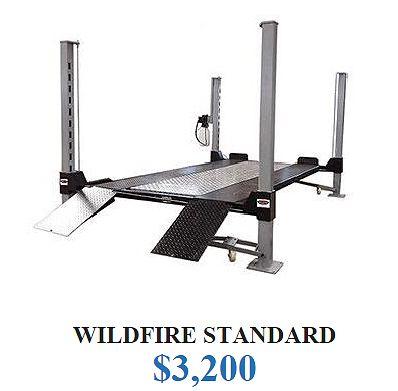 Wildfire Lifts Standard 4 Post Car Lift