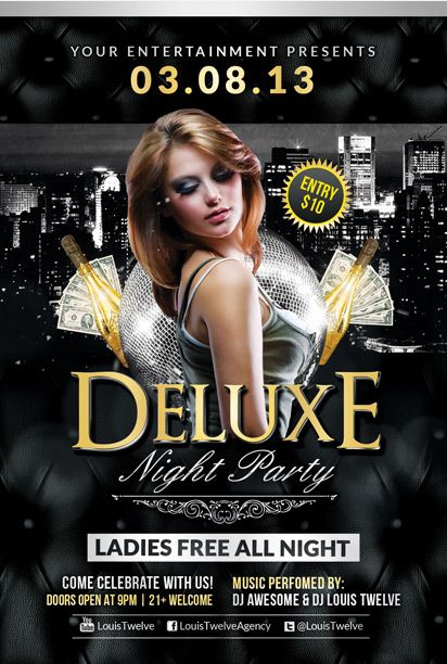 Free Deluxe Night Club PSD Flyer Template - Download Free PSD http ...