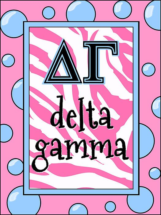 Delta Gamma Sorority Poster by Suzanne Clark