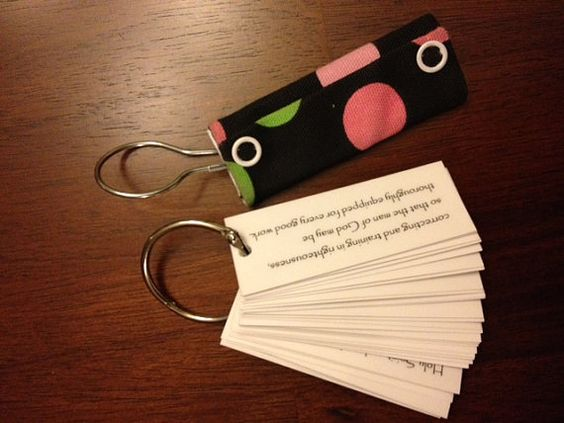 Scripture Memory Keychain on etsy.  Just ordered one!: Bible Study, Scripture Memory, That S Clever, Memory Keychain