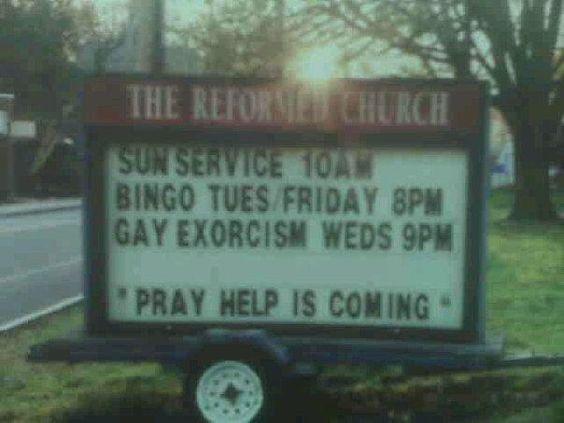 bingo AND gay exorcism...