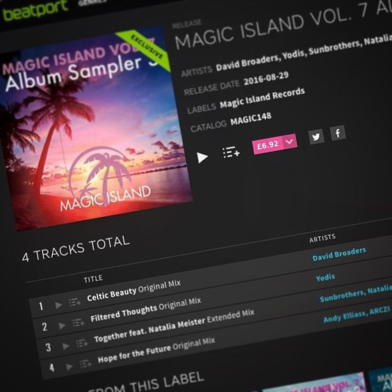 Got your copy of my latest track 'Celtic Beauty' yet? OUT NOW on Beatport! 😊☀️🌴 Get it here: https://magicisland.choons.at/vol7sampler3