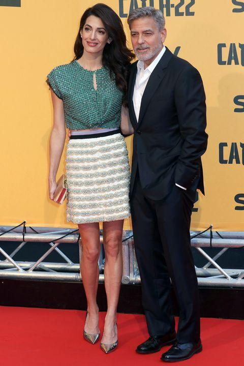 Amal Clooney S Most Stylish Looks Amal Clooney Black Short Sleeve Dress Amal Alamuddin Style