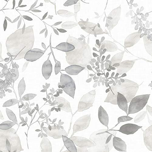 Nuwallpaper Nus3144 Grey Breezy Peel Stick Peel And Stick Wallpaper Nuwallpaper In 2020 Botanical Wallpaper Watercolor Wallpaper Farmhouse Wallpaper
