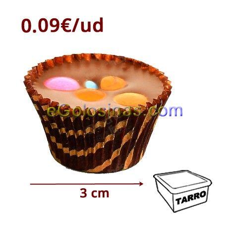 CAPSULAS HAPPY CUPS son capsulas de chocolate con leche con deliciosos mini lacasitos. Se venden en tarro de 120 unidades.