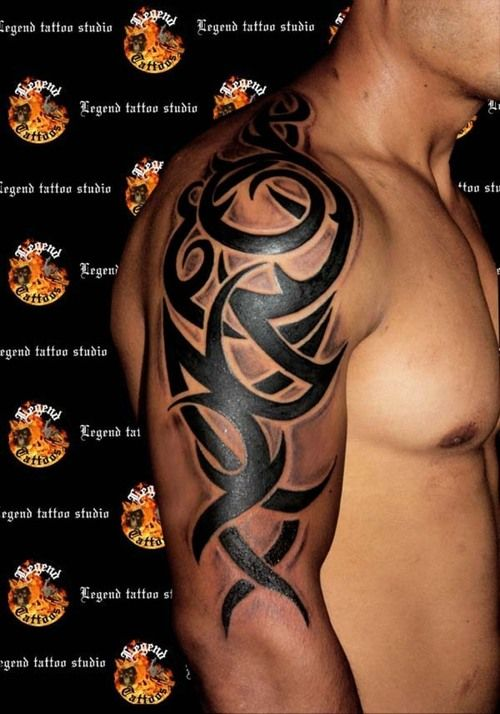 Image detail for -tribal sleeve – Tattoo Picture at ...