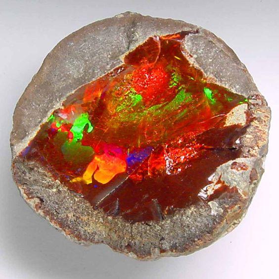 Rare red-orange Opal from Ethiopia