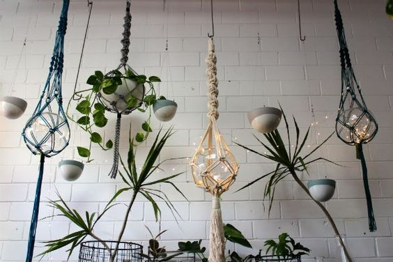 Mac and More macrame hanging planters