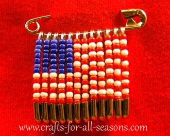 Safety Pin Crafts | ... the beaded pins onto the larger pin which can be tricky at first