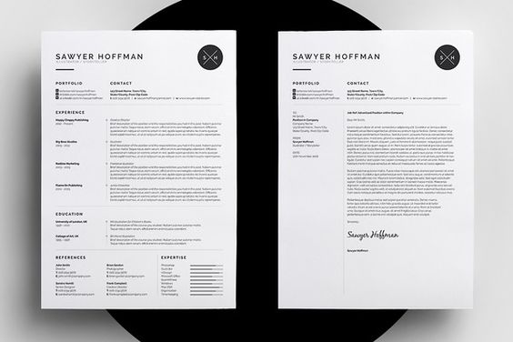 Resume/CV - Threebie Bundle 4 by bilmaw creative on @creativemarket