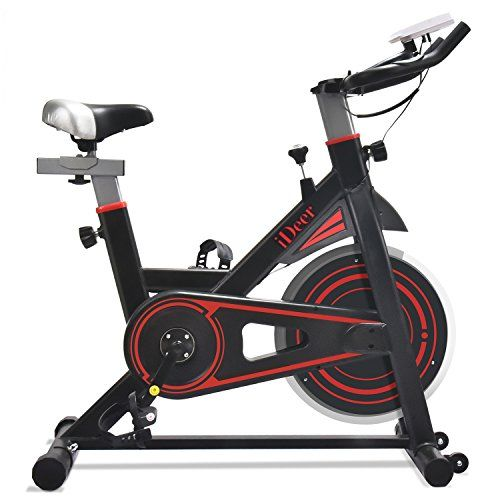 Ideer Life Exercise Bike Indoor Cycling Bike Smooth Amp Quiet Stationary Spin Bike Fully Adjustable With Heart Rate Sensor Indoor Bike Workouts Biking Workout Indoor Workout