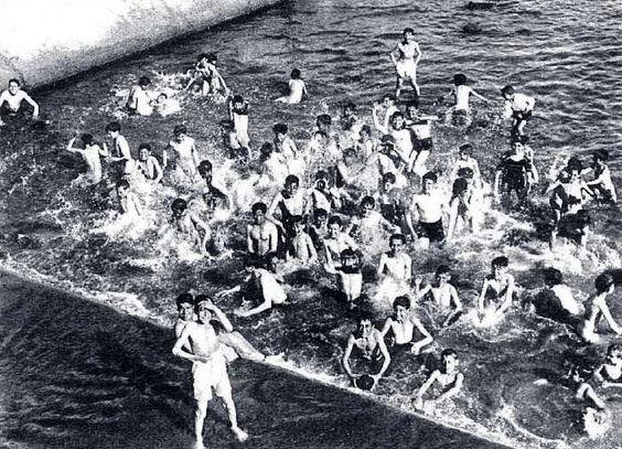 1933 en el r o manzanares canalizado las peque as presas - Banarse en madrid ...