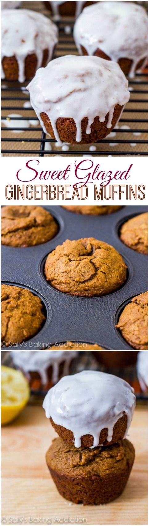 Glazed Gingerbread Muffins-- I make these every year. They're amazing.
