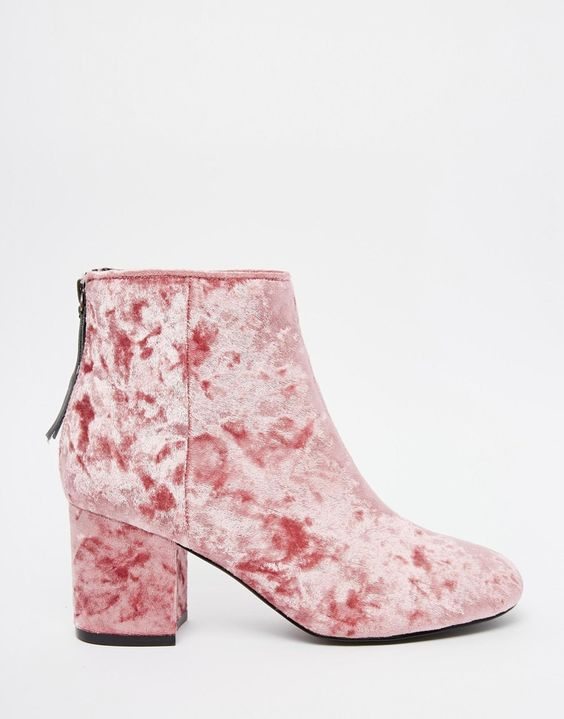 Image result for crushed velvet booties