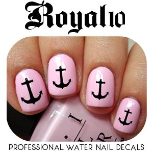 Water Transfer Nail Decals - Anchors