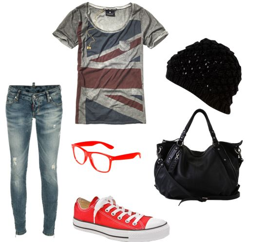 Outfits with converse | Everyone has jeans converse a cute shirt. This is a good option ...