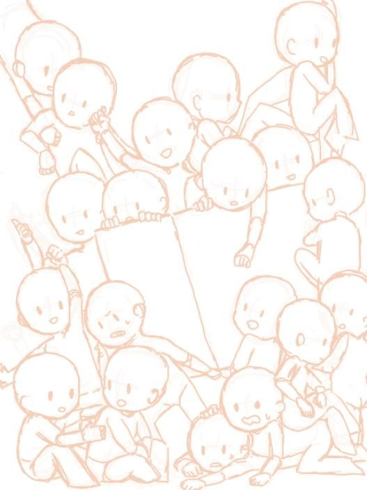Peopledrawing Group People Drawing In 2020 Drawing Base Art Reference Chibi Drawings