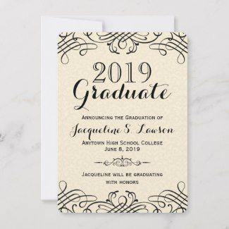 21 Elegant And Simple Graduation Announcement Templates The Candy Lei Graduation Invitations Template Graduation Announcements Graduation Invitations