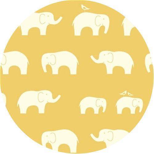 Birch Organic Fabrics, Mod Basics, KNIT, Elephant Family Sun