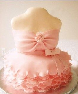 pink gown cake