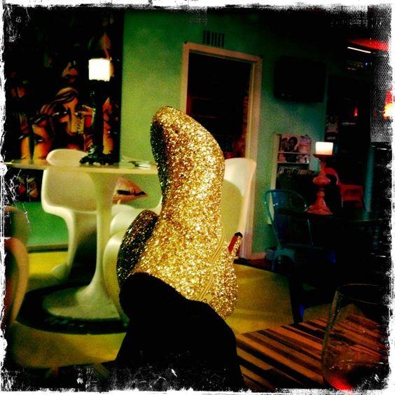 Looooove my gold high (very high) heel boots