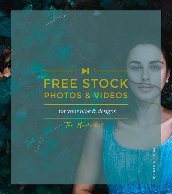 83 Oranges Design Co.   The Master list to Get Free Stock Photos & Videos For Your Blog