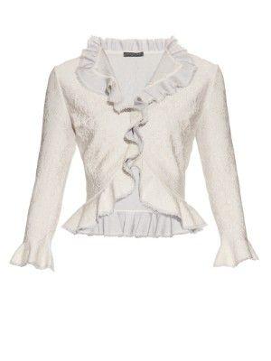 Lace-effect knit ruffle cardigan  | Alexander McQueen | MATCHESFASHION.COM US