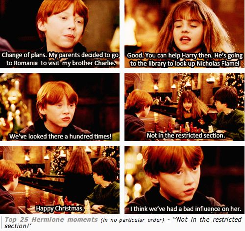 Tina forte one of my top hermione and ron moments ever i have a terrible harry potter - Hermione granger best moments ...