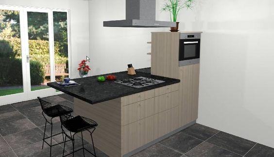 Kenmerken Spirit Studio semi-eiland keuken: opstelling 225x120cm half ...