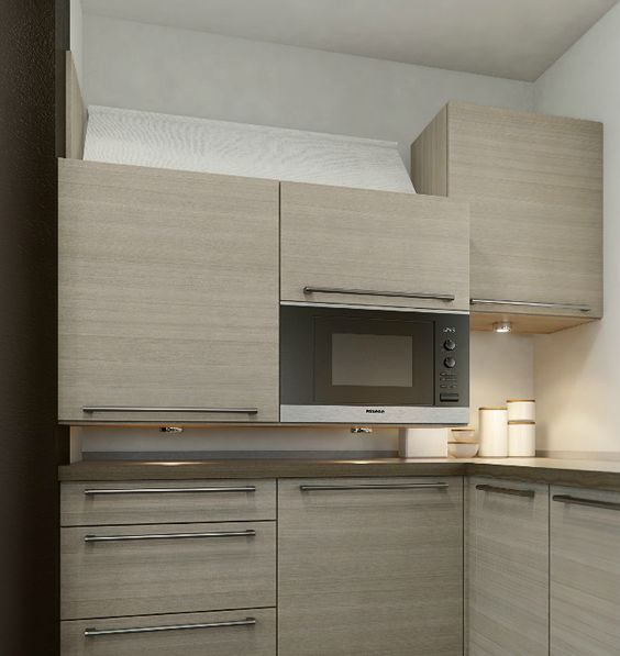 Universal Design Kitchen Cabinets: Diagonal Cabinet Lift. This Electric Lift Brings Your