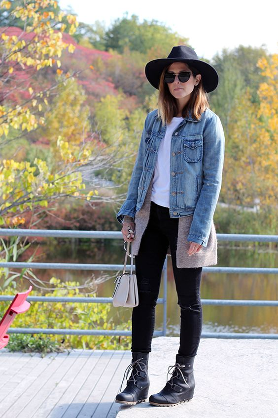 Outfits File Fall Layers And Sorel S Joan Of Arctic Wedge