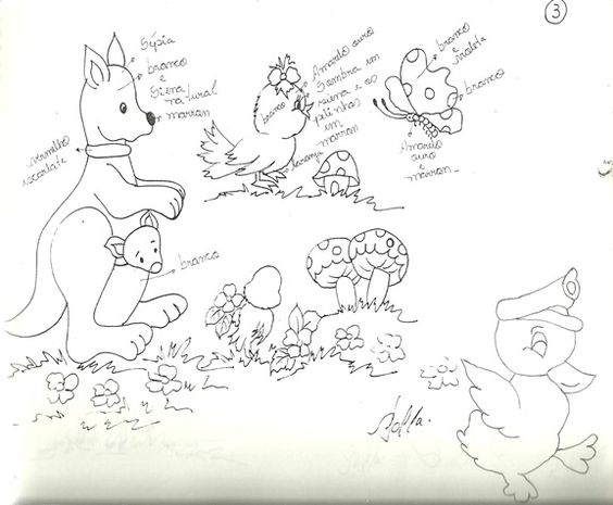 Desenhos infantis para pintar em fraldas: Babies, To Paint, Things, Children'S Drawings