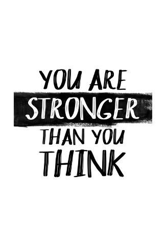 Art Print: You Are Stronger Than You Think : 24x16in