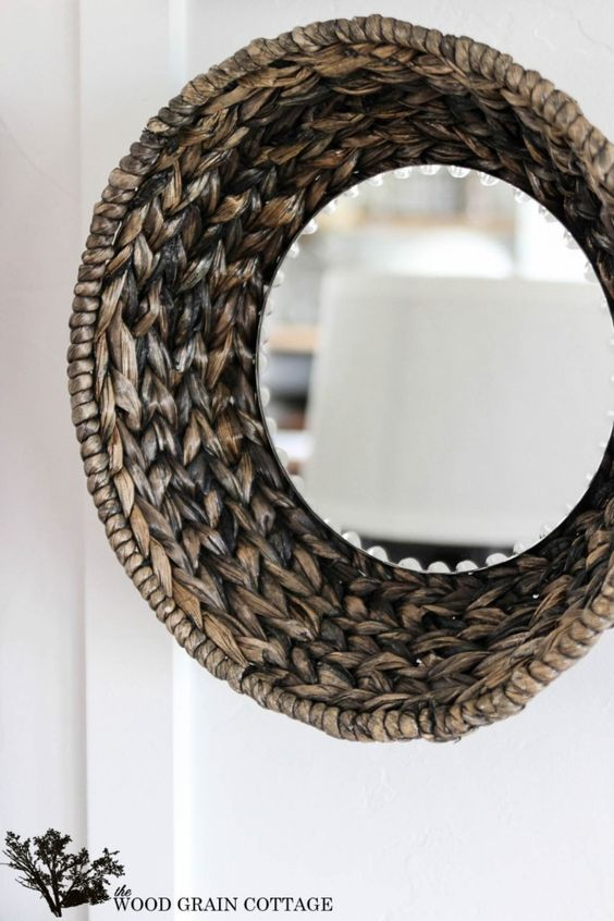 Wicker Basket Mirror Tutorial