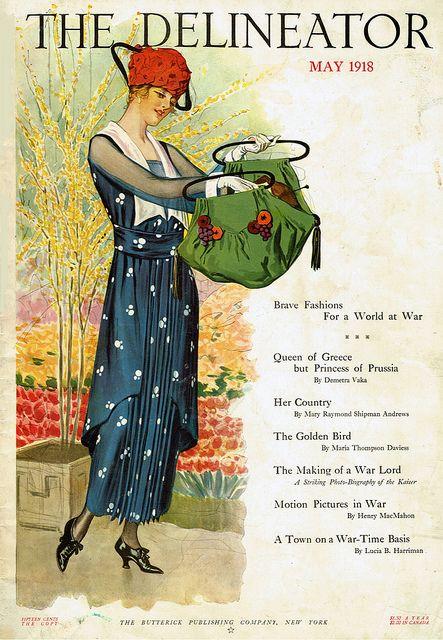 artdeco.quenalbertini: 1918 The Delineator cover
