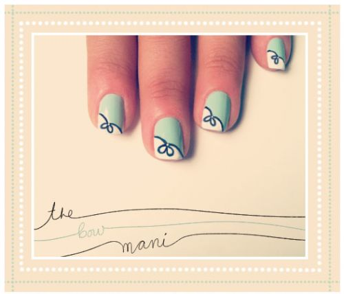 The Bow Mani- REGINA!!!  This is all you girl!  Check it out, there are a bunch of different tutorials, including one on making your own nail polish remover!