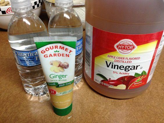 Detox Bath 2c apple cider vinegar (ACV) 1tbs ground ginger 2 bottles ...