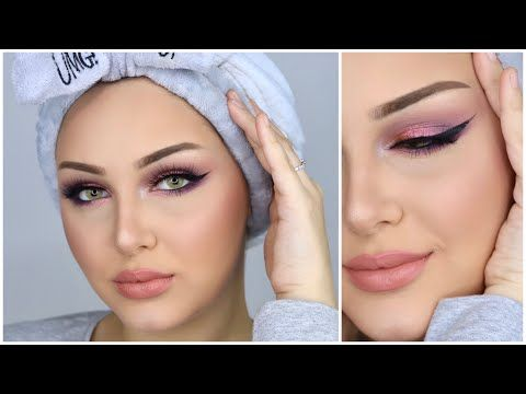مكياج ناعم للمناسبات بألوان الزهر شوفوا كيف خفيت الهالات نهائيا بالمكياج هيا أبوشالة Youtube Eye Makeup Makeup Make Up