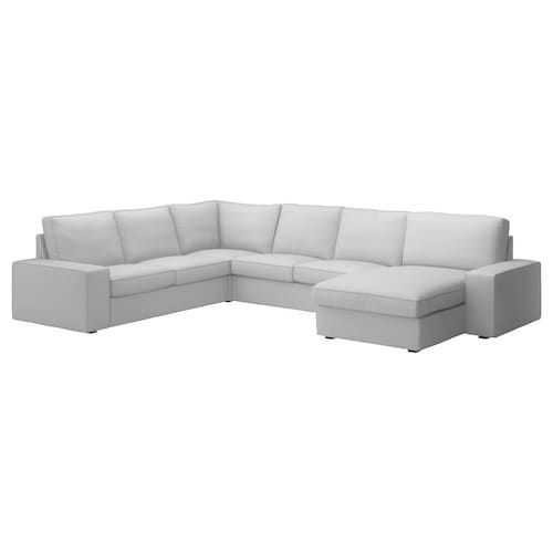 Kivik Sofa De Esquina 6 Hillared Chaiselongue Hillared Antracita In 2020 Ecksofa Grau