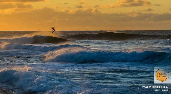 Brazilian flyboy Italo Ferreira caught in mid-flight at Rocky Point on November 16 | SURFLINE.COM
