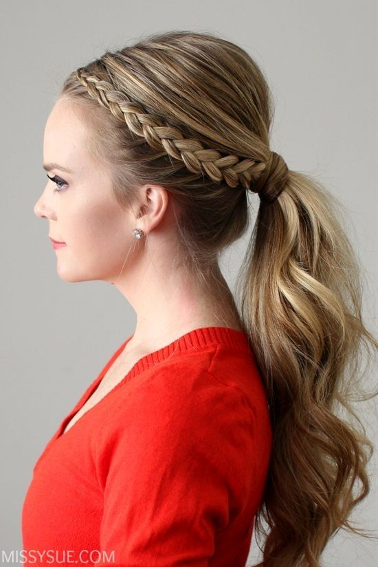 15 Easy Last Minute New Year S Eve Hairstyle Tutorials For Long Hair Dutch Lace Braid Ponytail Th Ponytail Styles Braided Ponytail Hairstyles Bridal Ponytail
