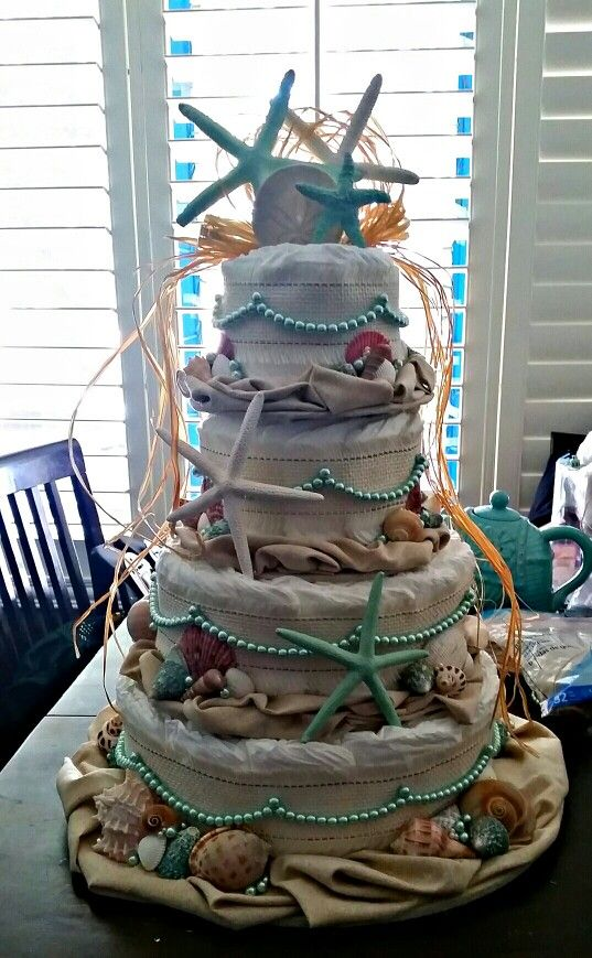 Cakes Beaches And Diaper Cakes On Pinterest