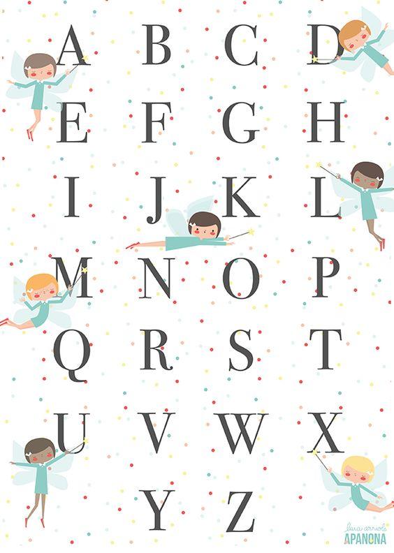 Fairy alphabet by Apanona